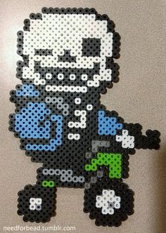 Undertale: Sans ( Bicycle!)  Undertale is owned by Toby Fox.  For more Undertale perler bead designs check out my Tumblr!