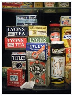 Vintage Teas and Coffees from the Museum of Brands in England