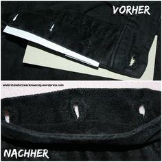 ausgefranste Knopflöcher an Jeanshose händisch nachgenäht [Anleitung] - fix it!