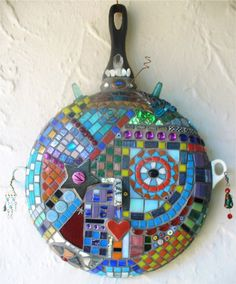 mosaic on a pan.....I WILL do this!