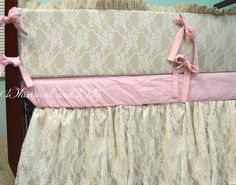 gray and baby pink damask lace crib bedding by kid stuff pinterest pink damask babies and nursery