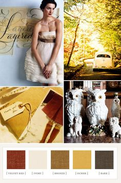 ivory, velvet red, bronze, ocher and bark color palette Colour Pallette, Color Palate, Color Combos, Color Schemes, Color Inspiration, Wedding Inspiration, Future Mrs, Autumn Day, Fall Days