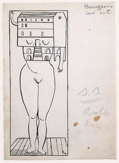 louise bourgeois drawings FOR SCULPTURE