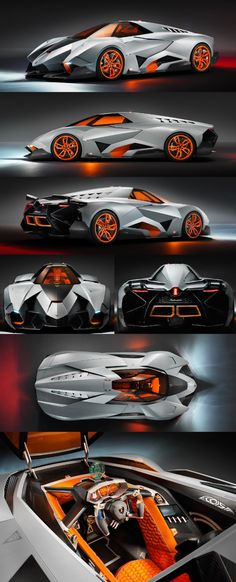 Many views of the Lamborghini Egoista