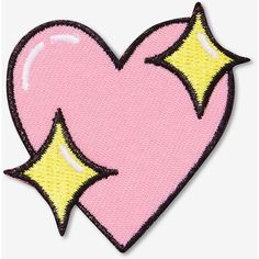 Big Bud Press Sparkle Heart Patch ($12) ❤ liked on Polyvore featuring accessories, backgrounds and patches