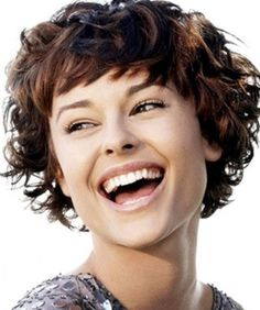 Short Curly Hair with Bangs-Short Haircuts for Curly Hair