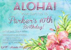Printable Beach Birthday Invite!