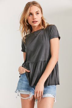 Slide View: 1: Truly Madly Deeply Dusty Road Peplum Tee
