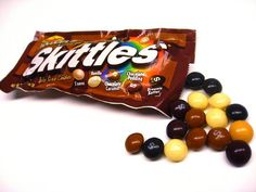 Limited edition chocolate flavoured skittles