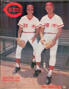1985 #Reds Scorecard featuring John Franco & Ted Power