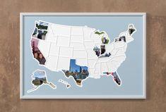 50 States Photo Map USA