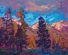 Montana Pines - Contemporary Impressionism | Landscape Oil Paintings for Sale by Erin Hanson