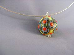 glass dot bead-- Jenine.net | Hand flameworked glass bead on… | Flickr