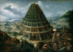 Lucas van Valckenborch, La toure de Babel, 1595, Dresden, Gemaldegallerie Alte Meister