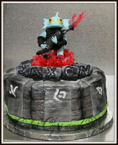 Skylander cake 100% edible and handmade
