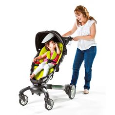 Origami Power-folding -Built-in generator -LCD Dashboard -One-push brake -Reflective piping -Four cup holders -Reclining seat -Zero pinch points -Lots of storage -No kick zone Pram Stroller, Baby Strollers, Prams, Kicks, Children, Cup Holders, Shopping, Zero