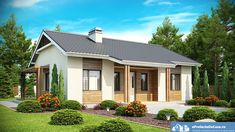 Fabulous Most Comfortable Spacious and Cheap Small One Story House Wooden Facade, Beautiful Small Homes, Side Porch, One Story Homes, Spacious Living Room, Tiny House Living, Story House, House Goals, Home Fashion