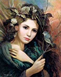 Annie Gerard Stegg - Pictures, News, Information from the web Portraits, Portrait Art, Vintage Ephemera, Motifs Art Nouveau, Art Magique, Edith Holden, Tree Woman, Mosaic Wall Art, Illustration