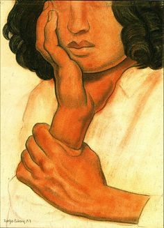 Study of Hands by Diego Rivera Mexico) Diego Rivera Art, Diego Rivera Frida Kahlo, Frida And Diego, Chicano, Statues, Mexico Art, Photography Illustration, Mural Painting, Portrait Art