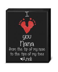 Personalized Baby Footprint Art Print I love by OurLittleMoments, $7.99