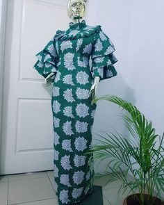 view latest Ankara styles for women African Fashion Ankara, Latest African Fashion Dresses, African Print Fashion, Long African Dresses, Ankara Long Gown Styles, African Inspired Clothing, Sleeves Designs For Dresses, Gown Pattern, African Attire