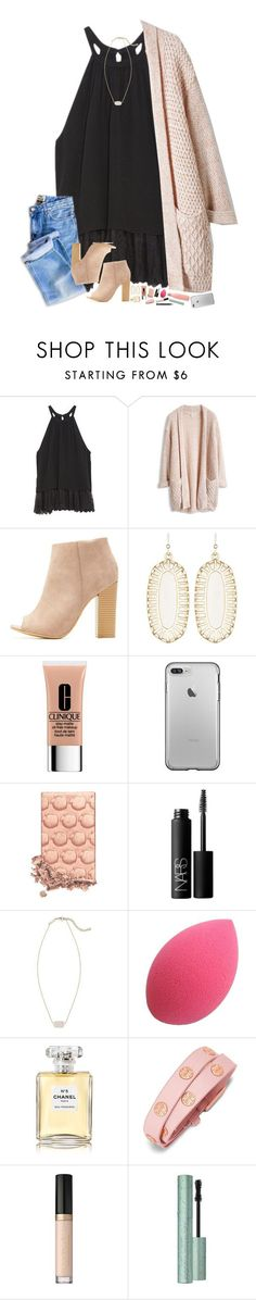 """for me to live is christ and to die is gain."" by hopemarlee ❤ liked on Polyvore featuring OTTE, Bamboo, Kendra Scott, Clinique, NARS Cosmetics, Chanel, Tory Burch, Too Faced Cosmetics and hmsloves"