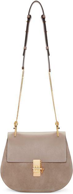 Chloé - Grey Medium Drew Saddle Bag suede
