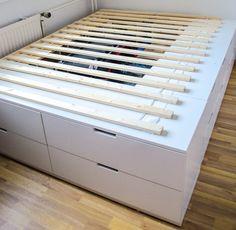 Ikea Hack Bett selber bauen Anleitung