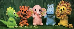 *Free Crochet Pattern:  Crochet In Action: The tiger, elephant, hippo and lion to the mythological dragon.