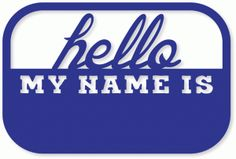 Silhouette Online Store - View Design #36720: 'hello my name is' card