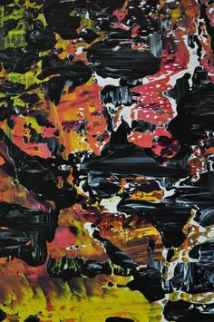 Abstract painting (detail) by Jakob Weissberg, oil on canvas, detail Abstract Paintings, Oil On Canvas, Comic Books, Fresh, Detail, Art, Painted Canvas, Kunst, Comic Book