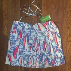 Lilly Pulitzer brand new halter top New with tags silk halter top in Lilly's famous sailboat design. So perfect for summer! Lilly Pulitzer Tops