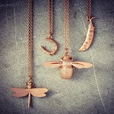 Whimsical British jewellery designer, Alex Monroe, has exclusively re-released six of his best selling pieces in a beautiful rose gold finish.  Shop his iconic designs such as the bumblebee, feather or dragonfly necklaces, or make it your lucky day with the delicate horseshoe pendant, available exclusively online at Liberty.co.uk  #LibertyROCKS @AlexMonroeJewellery #Padgram
