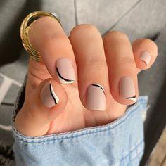 Drip Nails, Glitter Gel Nails, Nude Nails, My Nails, Flare Nails, French Manicure Nails, Gel Nail Colors, Minimalist Nails, Neutral Nails