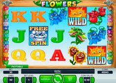 Lenkt euch vom Alltag ab unf spielt Flowers Spielautomat von NetEnt! Blumen, die gute Gewinnchancen bringen k;nnen, habt ihr schon sowas gesehen?