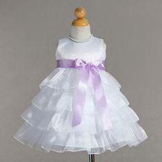 Infant Dress - Layered of Skirt & Custom Sash Colors