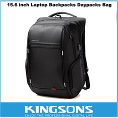 "Kingsons Waterproof Antitheft Laptop Notebook Backpack Computer Bag Travel Backpack for 15.6"" Macbook/Dell/ASUS/HP For Men Women Price: USD 51.4 