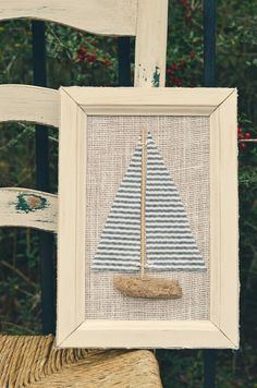 DRIFTWOOD SAILBOAT FRAMED ART (white) by vintage {swoon}