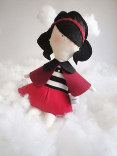 Brenda fashion cotton and felt kids Doll by Cromanticamente, $44.00