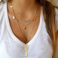 Bohemian Choker Necklace Women Natural Stone Tassel Long Necklaces & Pendants Fashion Necklaces For Women Gold Silver Jewelry