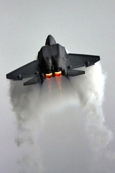 F 22 Raptor. Am I the only one who has the soundtrack of Top Gun playing in her head while looking at this pic? Every time I see any kind of fighter, I always think of that movie. CHAIR FORCE MY ASS.
