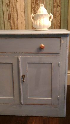 Reserved/vintage/antique Milk Painted Distressed Dry Sink/painted Distressed…