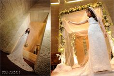 Beautiful #bride under the #Chuppah... The #ceremony took place inside the sanctuary of Temple Beth Emet. Kay Rivas, of Bouer Catering Group and Temple Beth Emet, said it was just beautiful... #Bridal #Portraits by #DominoArts #Photography (www.DominoArts.com)