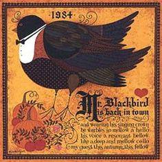 Wysocki.  1984 commemorative.  Mr. Blackbird is Back in Town