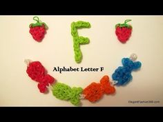 How to Make Alphabet Letter F Charms on Rainbow Loom - YouTube