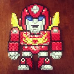 Rodimus Prime Transformers perler beads by lovechowder242