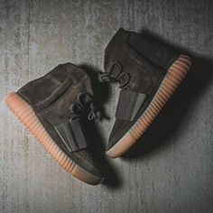 """New arrivals on deck at kickbackzny.com including the adidas Yeezy 750 Boost """"Chocolate""""."""