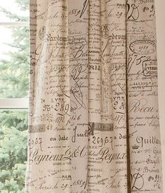 16 Best Toile And French Script Fabrics Images French