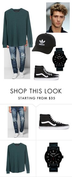 """""""Untitled #135"""" by skatergirl891 ❤ liked on Polyvore featuring Boohoo, Vans, Banana Republic, Nixon, adidas Originals, men's fashion and menswear"""