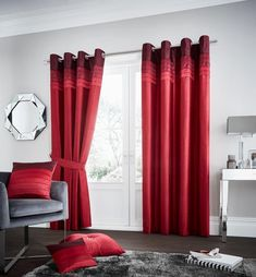 La Moda Red Lined Eyelet Curtains – Linen and Bedding Red Bedding, White Bedding, Luxury Bedding, Linen Bedding, Bed Linens, Turquoise Bedding, Luxury Linens, Plaid Bedding, Room Darkening Curtains